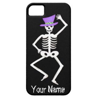 Black White Dancing Skeleton Bones Halloween iPhone SE/5/5s Case