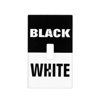 black/white dark/light  on/off light switch plate