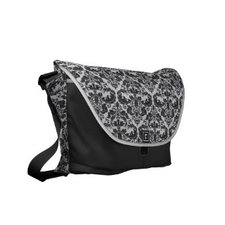 Black & White Dasmask Pattern Messenget Bag