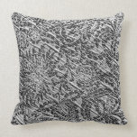 White Lace Fabric Image (Add Background Color) Pillows from Zazzle.