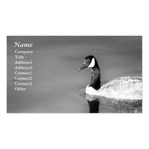 Black&white del ganso de Canadá - tarjetas de visi Tarjeta Personal