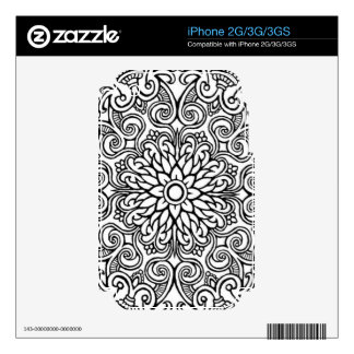 black & white design phone skin decals for the iPhone 3