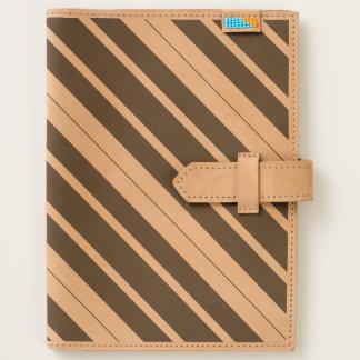 Black & White Diagonal Stripes Journal