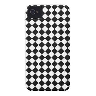 Black White Diamond Check pattern iPhone 4 Case-Mate Case
