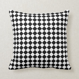 Black White Diamond Check pattern Pillows