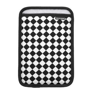 Black White Diamond Checkerboard iPad Mini Sleeve