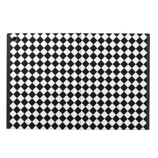 Black White Diamond Checkers Cover For iPad Air