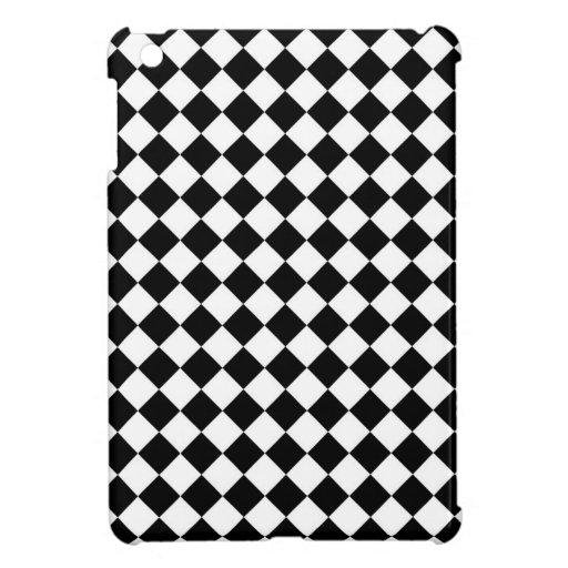 Black White Diamond Checkers Case For The iPad Mini