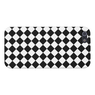 Black White Diamond Checkers iPhone 5/5S Cover