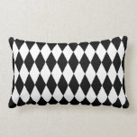 Black & White Diamond Harlequin Pattern Throw Pillows