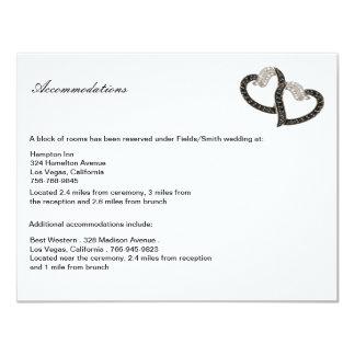 Black & White Diamond Hearts Enclosure Card