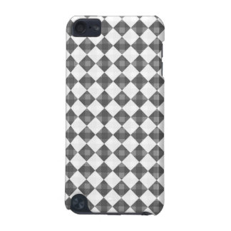 Black,  white diamond patern, iPod hard shell case