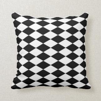 Black & White Diamond Pattern Throw Pillow