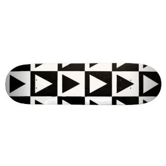Black White Diamond Triangle and Square Pattern Skateboard