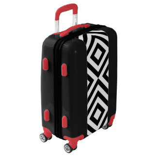 Black & White Diamonds and Chevrons Luggage
