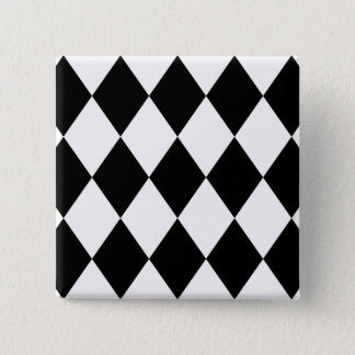 Black & White Diamonds Button