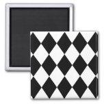 Black & White Diamonds Fridge Magnet