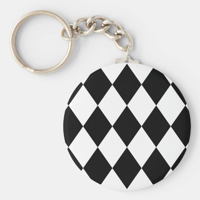 Black & White Diamonds Keychain