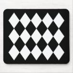 Black & White Diamonds Mouse Mat