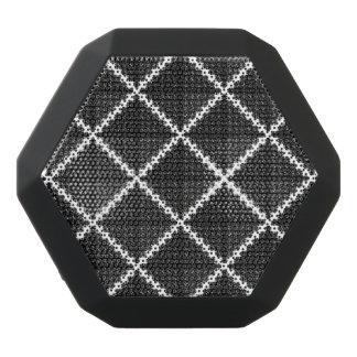 Black & White Diamonds & Squares Pattern Black Bluetooth Speaker