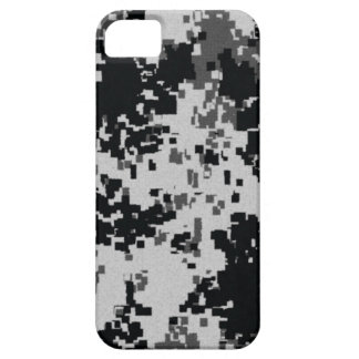 Black White Digital Camouflage iPhone 5 Covers