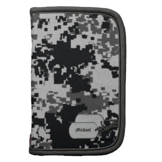 Black / White Digital Camouflage with Dog Tags Organizer