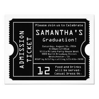 Black/White Digital Graduation Ticket Invitation