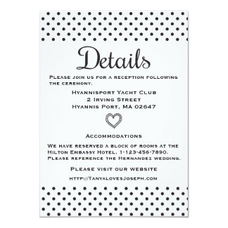 Black & White Directions Details Polka Dots Card