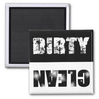Black & White Dirty/Clean Dishwasher Magnet