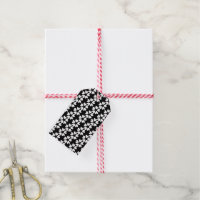 Black & White Ditsy Sweet Love Hearts Patterned Gift Tags