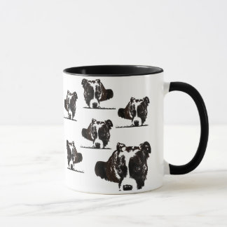 Black & White dog graphic coffee mug