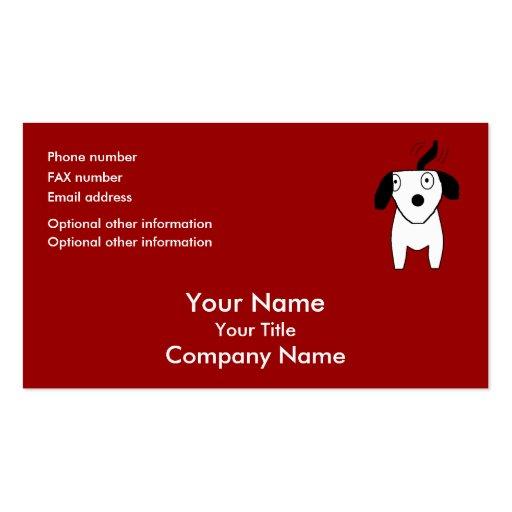black white dog red orange bus card template business card template zazzle. Black Bedroom Furniture Sets. Home Design Ideas
