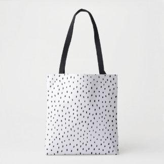 Black & White Doodle Spot Tote Bag