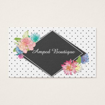 Professional Business Black White Dotted Business Card