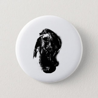 Black & White Dragon Button