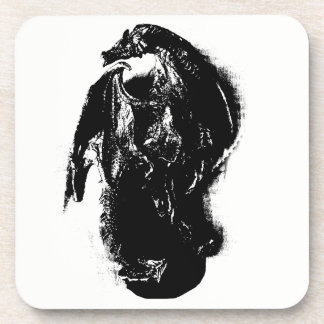 Black & White Dragon Drink Coaster