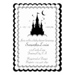 Black White Dream Castle In The Clouds Baby Shower Card