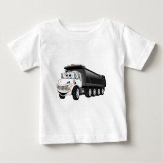 Black White Dump Truck 10w Cartoon Baby T-Shirt