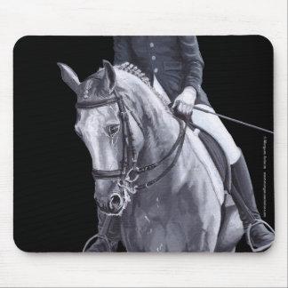Black & White Duo Dressage Horse mousepad