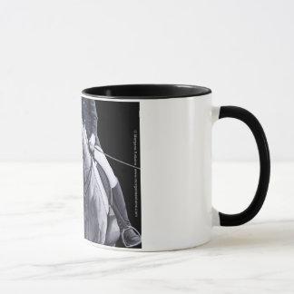 Black & White Duo Dressage Horse mug stein