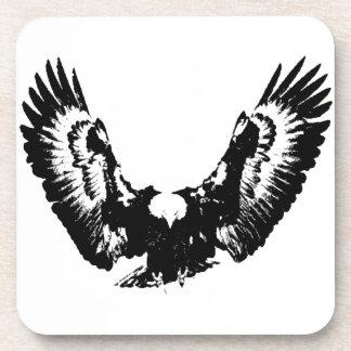 Black & White Eagle Beverage Coaster