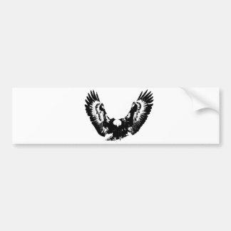 Black & White Eagle Bumper Sticker