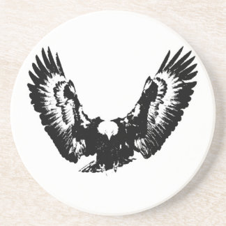 Black & White Eagle Drink Coaster