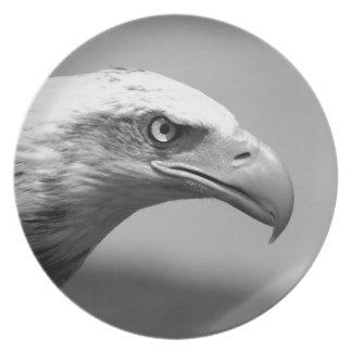 Black & White Eagle Eye Melamine Plate