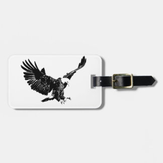 Black & White Eagle Tags For Bags