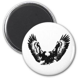 Black & White Eagle Magnet