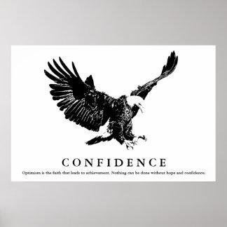 Black & White Eagle Motivational Confidence Poster