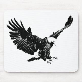 Black & White Eagle Mouse Pad