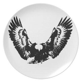 Black & White Eagle Plate