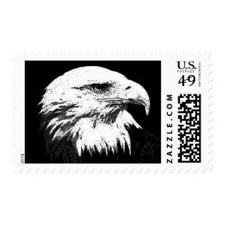 Black & White Eagle Postage